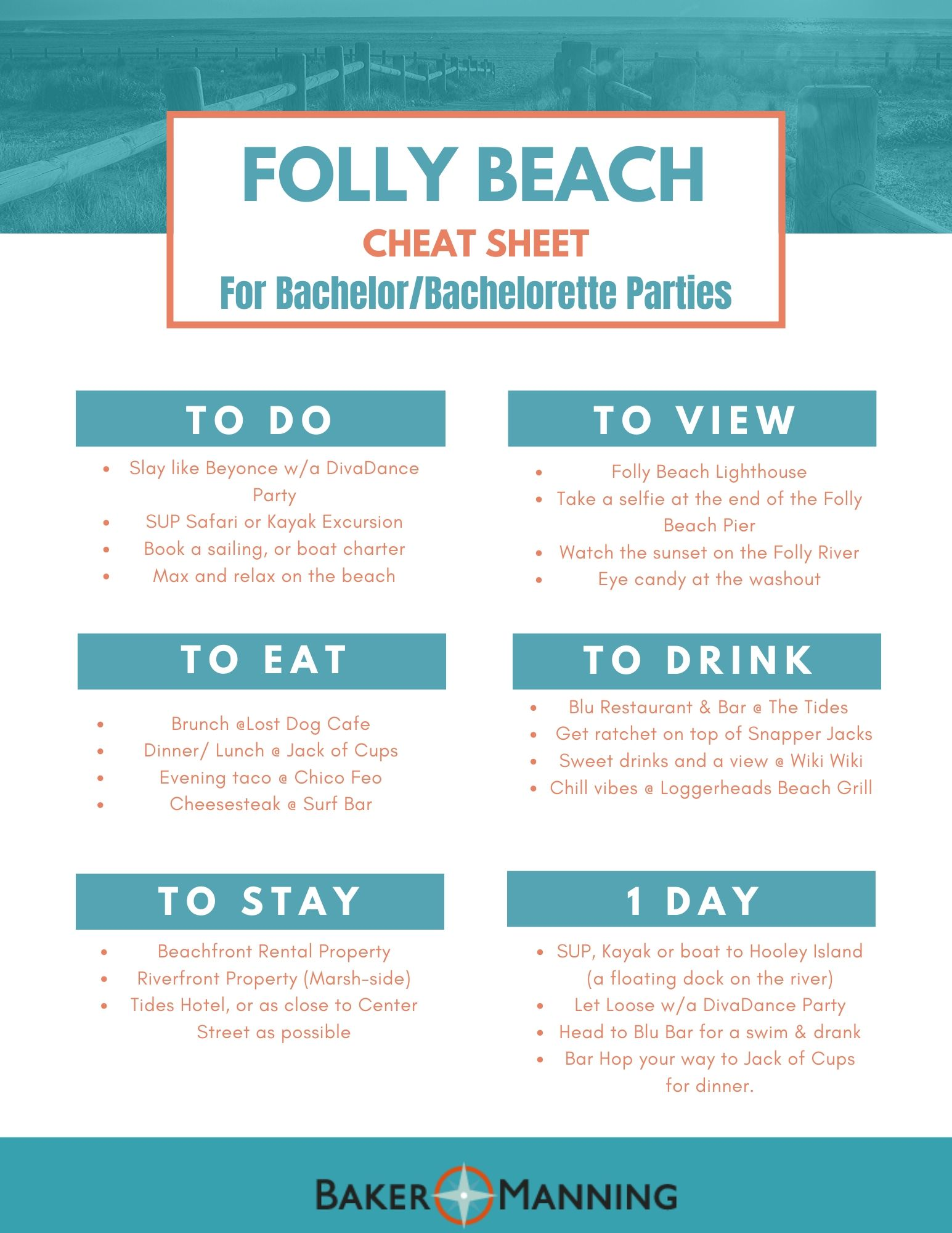Folly Beach Cheat Sheet 2.0