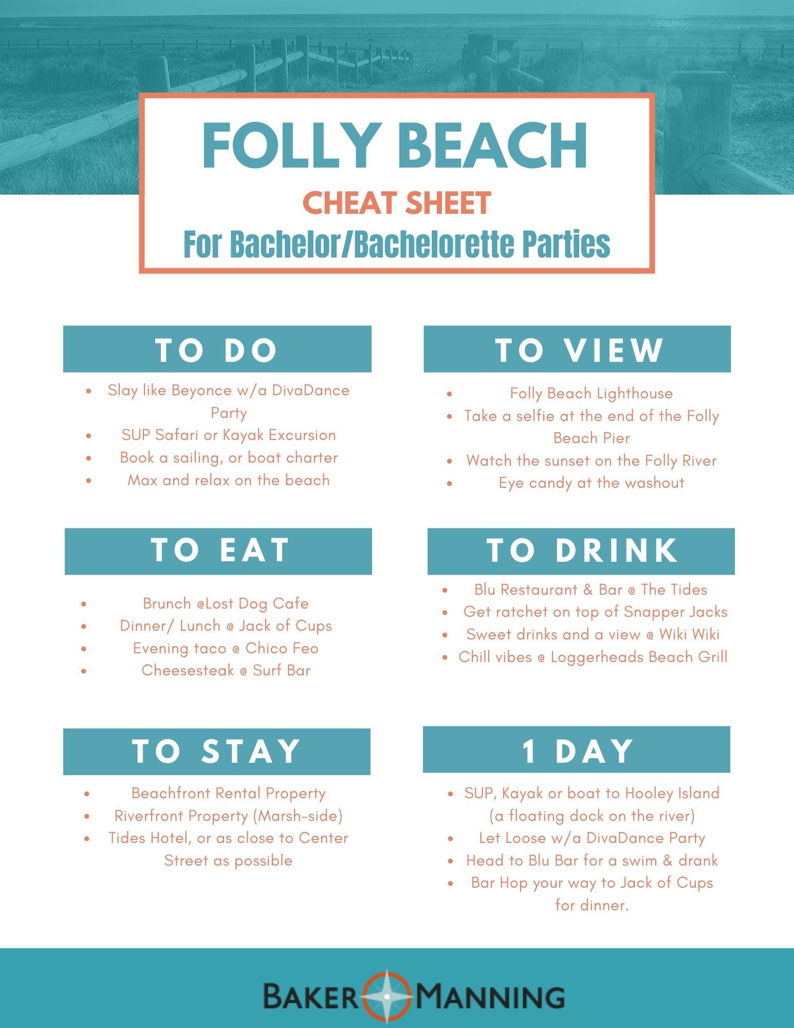 Folly Beach Cheat Sheet 2.0